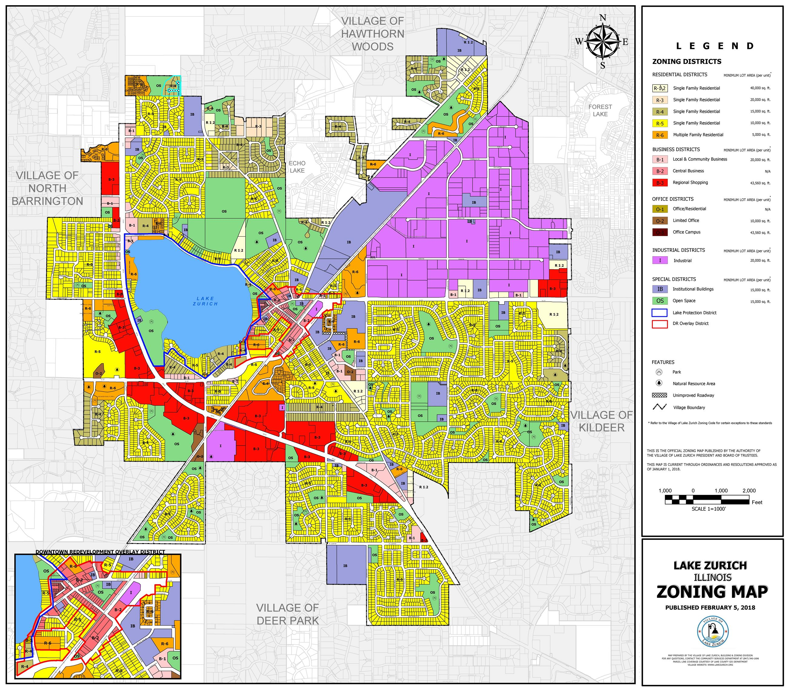Lake Zurich Zoning Map